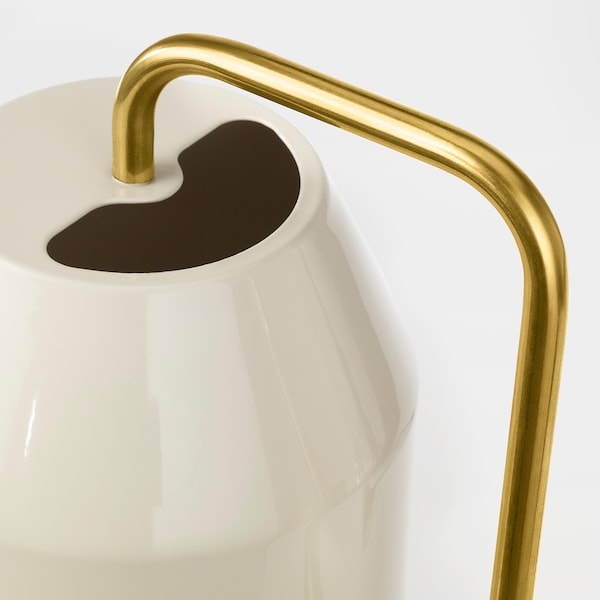 VATTENKRASSE Watering can, ivory/gold-colour, 30 oz