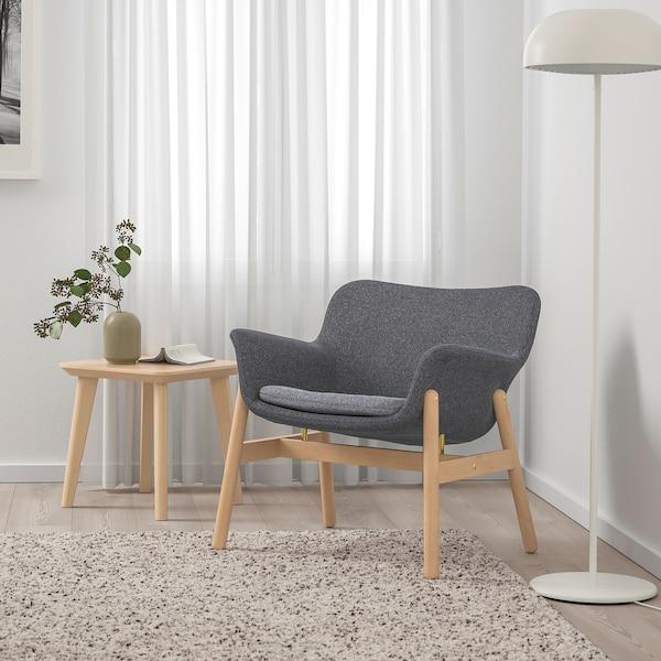 VEDBO Armchair, Gunnared dark gray