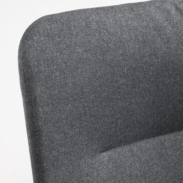 "VEDBO armchair high Gunnared dark gray 31 1/2 "" 33 1/2 "" 42 1/2 "" 17 3/4 "" 18 7/8 "" 17 3/8 """