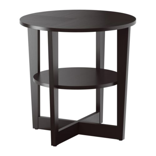 Vejmon side table black brown ikea for Table ikea 4 99