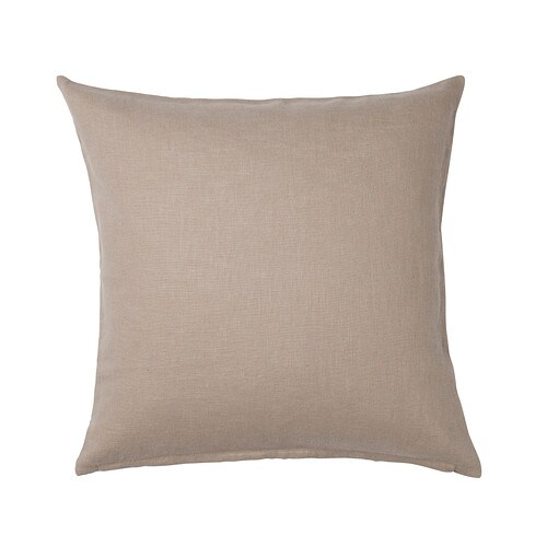 VIGDIS Cushion cover   Cover is made of ramie; a hard-wearing and absorbent natural material.  The zipper makes the cover easy to remove.