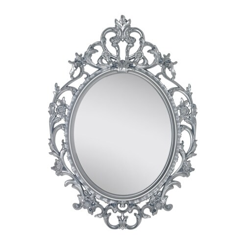 VIKERSUND Mirror  ovalsilver color  IKEA
