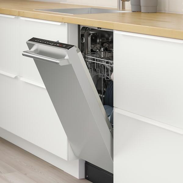 VILLKORLIG Built-in dishwasher, Stainless steel