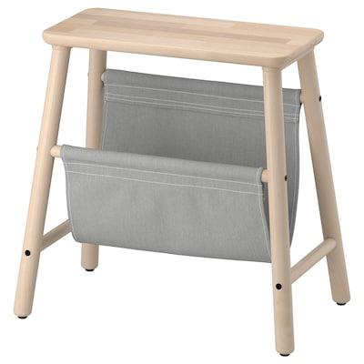 "VILTO storage stool birch 18 7/8 "" 11 3/4 "" 17 3/4 "" 220 lb"