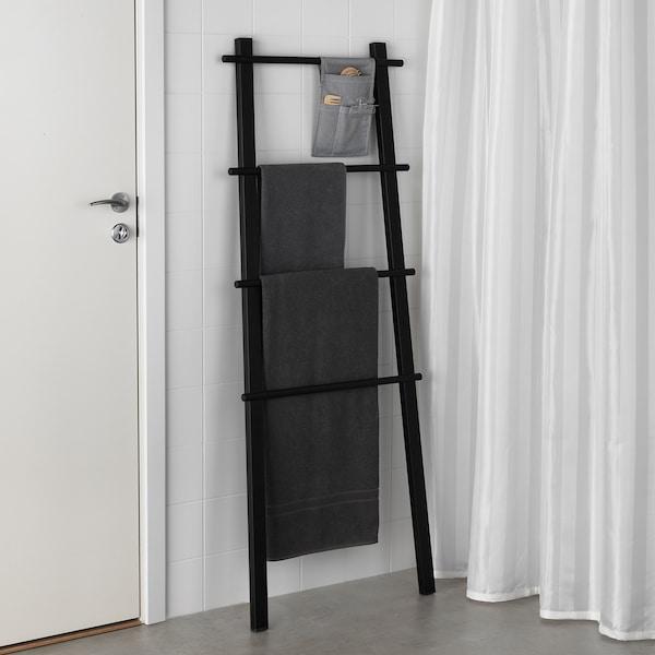 "VILTO towel stand black 22 ½ "" 59 """