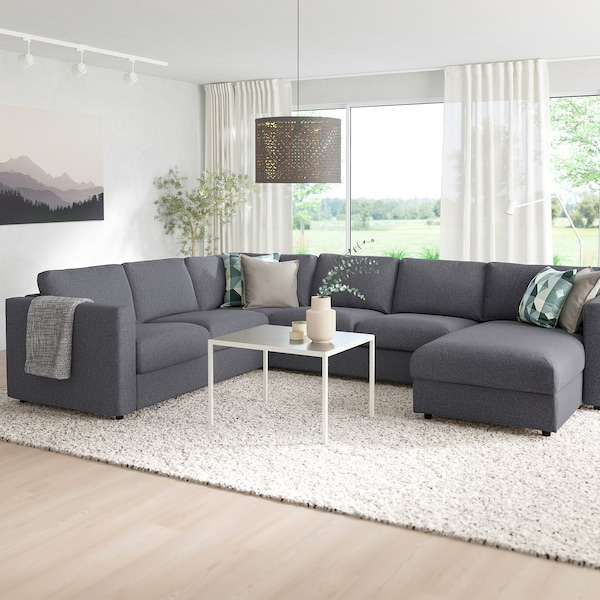 Excellent Vimle Sectional 5 Seat Corner With Chaise Gunnared Medium Gray Bralicious Painted Fabric Chair Ideas Braliciousco