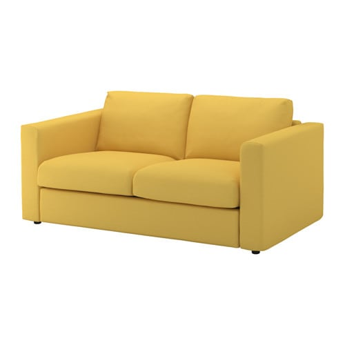 Vimle loveseat orrsta golden yellow ikea for Sofas en ikea
