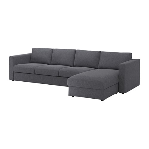 vimle sectional 4 seat with chaise gunnared medium gray