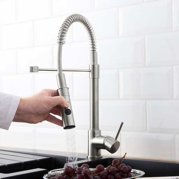 """VIMMERN kitchen faucet with handspray stainless steel color 18 1/2 """""""