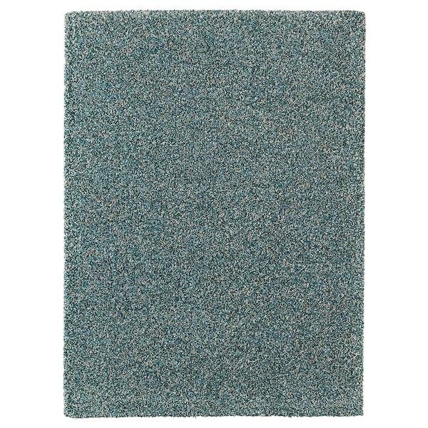 """VINDUM Rug, high pile, blue-green, 6 ' 7 """"x8 ' 10 """""""
