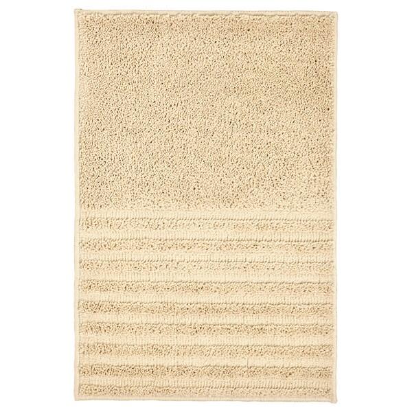 """VINNFAR Bath mat, light beige, 16x24 """""""