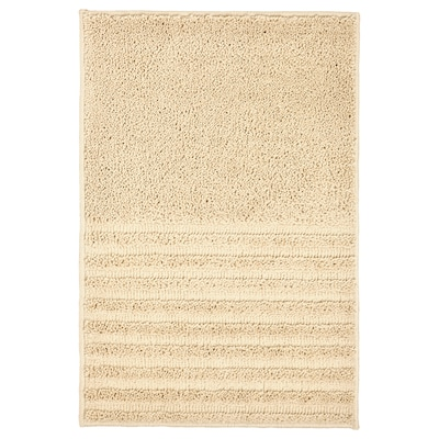 VINNFAR Bath mat, light beige, 16x24 ""