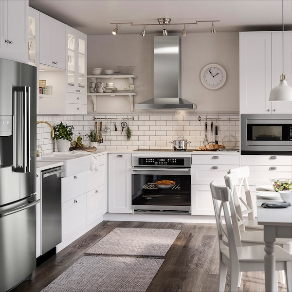 VINSTGIVANDE Wall mounted range hood, Stainless steel