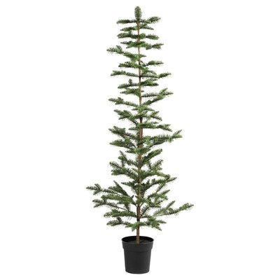 """VINTER 2020 Artificial potted plant, indoor/outdoor/christmas tree green, 7 ½ """""""