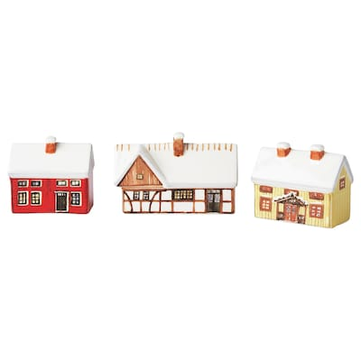 VINTER 2020 Decorative house, set of 3, mixed colors