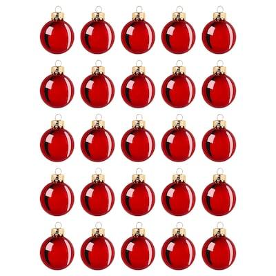 "VINTER 2020 Ornament, glass red, 1 ½ """