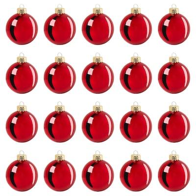 "VINTER 2020 Ornament, glass red, 2 ¼ """