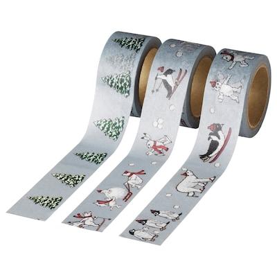 VINTER 2020 Roll of tape, animal pattern gray, 16.40 '