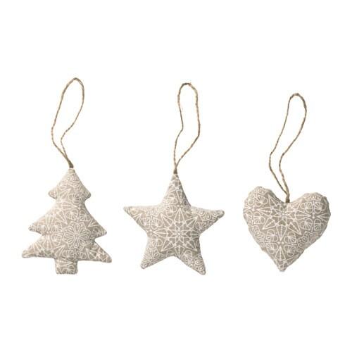 VINTER 2016 Hanging Ornaments Set Of 3 IKEA