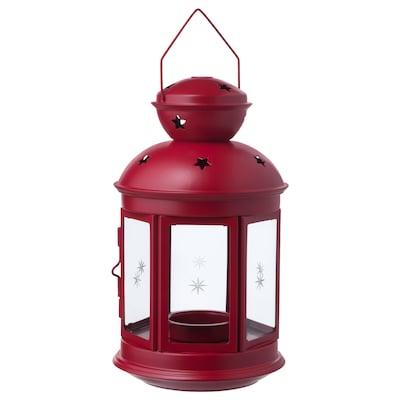 """VINTERFEST Lantern for tealight, indoor/outdoor red, 8 """""""