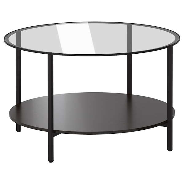 Vittsjo Coffee Table Black Brown Glass Ikea