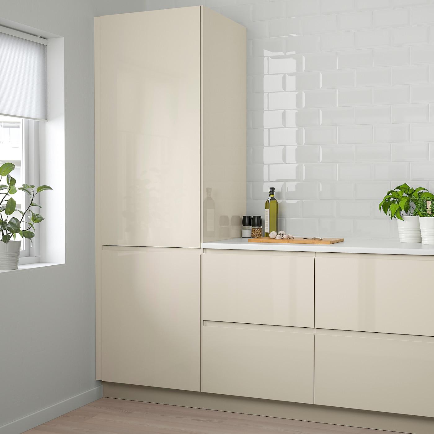 """VOXTORP Door - high gloss light beige 7x7 """" (7x7 cm)"""