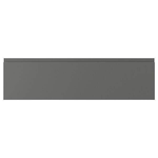 """VOXTORP Drawer front, dark gray, 36x10 """""""