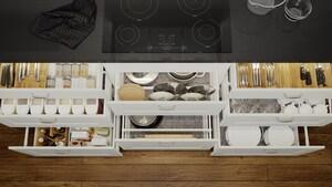 Kitchen interior organizers