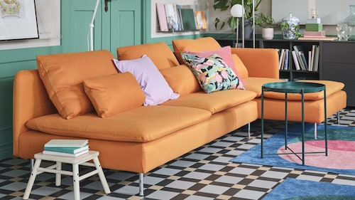Sectional fabric sofas