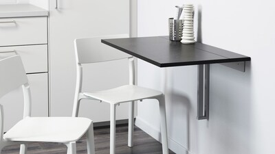 Wall-mounted tables