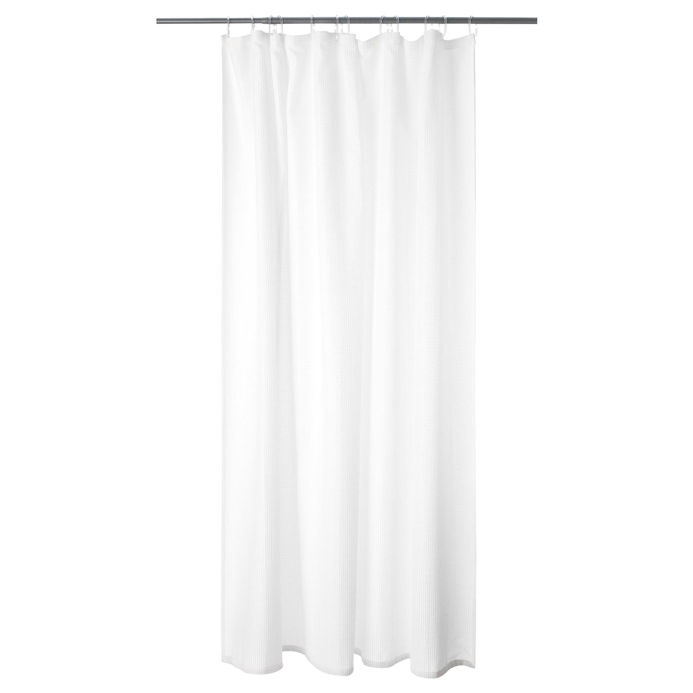 """ADDARN Rideau de douche - blanc 18x18 """" (18x18 cm)"""