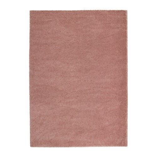 ÅDUM Tapis à poils longs, brun-rose clair brun-rose clair 170x240 cm