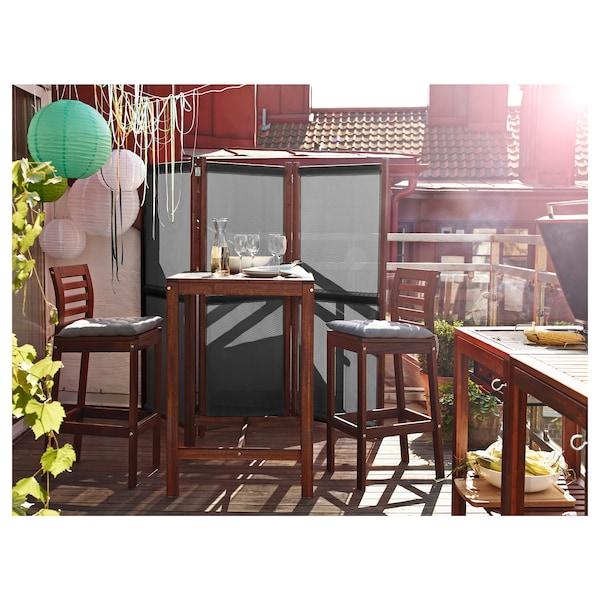 ÄPPLARÖ Table haute, extérieur, teinté brun