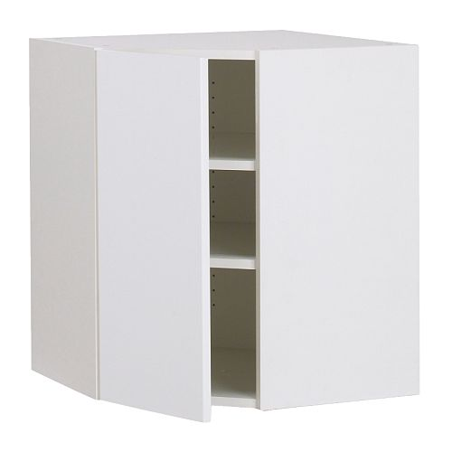 akurum armoire murale d 39 angle blanc abstrakt. Black Bedroom Furniture Sets. Home Design Ideas