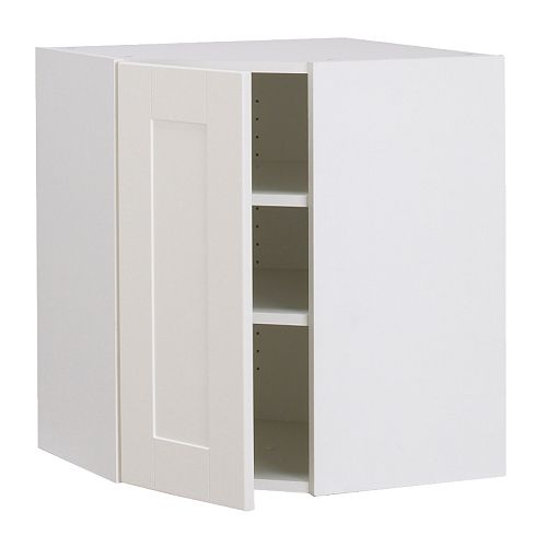 akurum armoire murale d 39 angle blanc del blanc cass 25x30 ikea. Black Bedroom Furniture Sets. Home Design Ideas