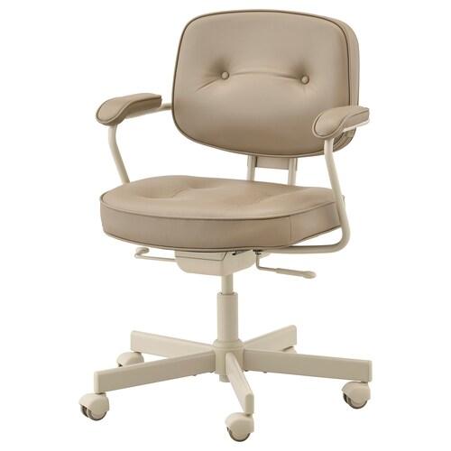 """ALEFJÄLL chaise de bureau Grann beige 243 lb 25 1/4 """" 25 1/4 """" 37 3/8 """" 20 1/8 """" 16 1/2 """" 17 3/4 """" 22 """""""