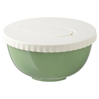 ALLEHANDA Bol à mélanger avec couvercle, vert, 4 qt