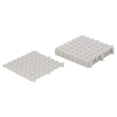 """ALTAPPEN caillebotis gris clair 8.72 pied carré 11 3/4 """" 11 3/4 """" 1/4 """" 0.97 pied carré 9 pièces"""