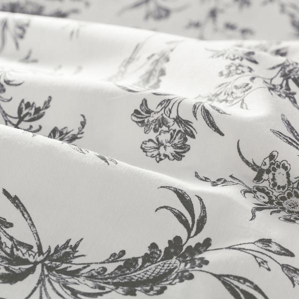 ALVINE KVIST Housse de couette et taie(s), blanc/gris, Très grand deux places