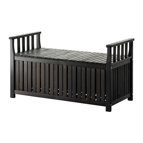ngs banc coffre teint brun noir ikea. Black Bedroom Furniture Sets. Home Design Ideas