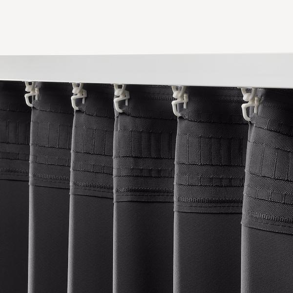 """ANNAKAJSA Rideaux assombrissants, 2 panneaux, gris, 57x118 """""""