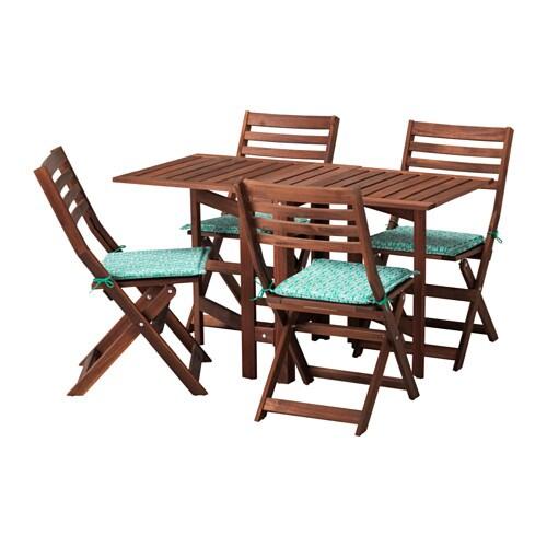 Pplar table 4 chaises pliantes ext rieur pplar for Table pliante exterieur ikea