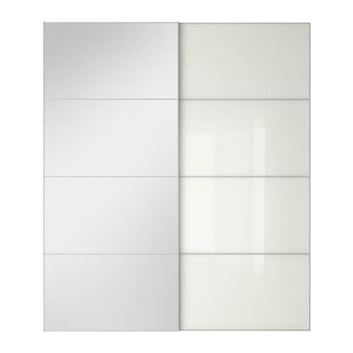 Auli f rvik portes coulissantes 2 pi ces 200x236 cm amortisseur pour po - Porte coulissantes ikea ...