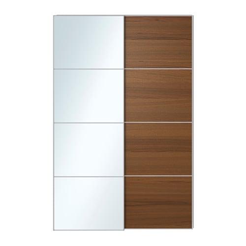 Auli ilseng portes coulissantes 2 pi ces 150x236 cm amortisseur pour po - Porte coulissantes ikea ...
