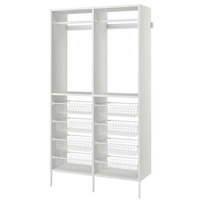 """AURDAL Agencement armoire-penderie, blanc, 49 1/4x15 3/4x87 """""""