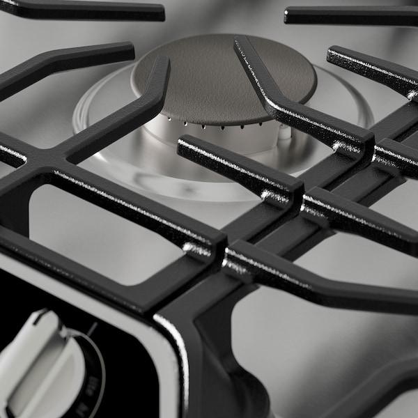 "AVBRÄNNING Table de cuisson à gaz, acier inox, 36 """