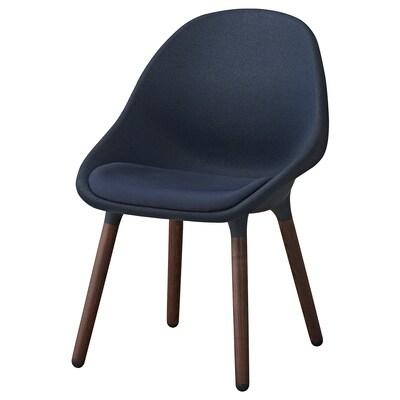 BALTSAR Chaise, bleu-noir/brun