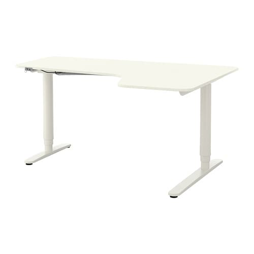 bekant bureau d 39 angle dr assis debout blanc ikea. Black Bedroom Furniture Sets. Home Design Ideas