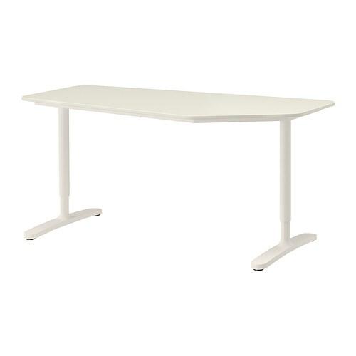 bekant bureau polygone blanc ikea. Black Bedroom Furniture Sets. Home Design Ideas