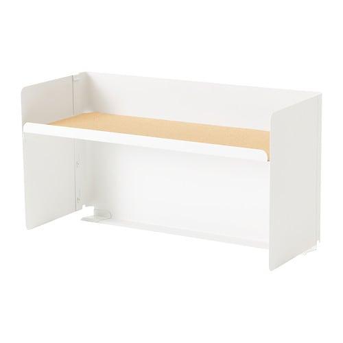 Bekant tag re bureau blanc ikea for Etagere de bureau ikea